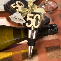 50th Anniversary Wine Bottle Stopper Favor