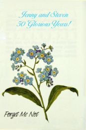Forget Me Not Anniversary Seed Packet Favor