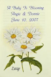 Daisy Baby Shower Seed Favor