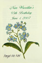 Forget Me Not Birthday Seed Packet Favor