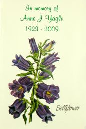 Bell Flower Memorial Service Seed Packet