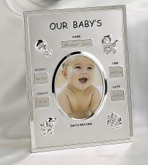 Engraveable Birth Record Frame