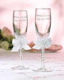 Butterfly Champagne Wedding Flutes