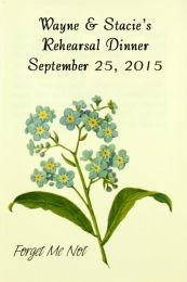 Forget Me Not Rehearsal Dinner Seed Favor