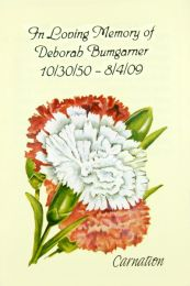 Carnation Memorial Seed Packet