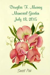 Sweet Pea Memorial Seed Favor