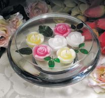 Rosebud Floating Candles