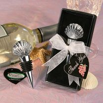 Vineyard Shell Wine Stopper Favor