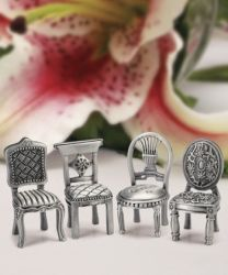 Pewter Chair Place Card Holder