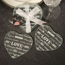 Heart Glass Coasster