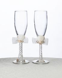 Beach Toasting Glasses