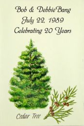 Cedar Tree Anniversary Favor