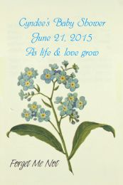 Forget Me Not Baby Shower Seed Packet Favor