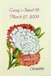 Carnation Birthday Party Seed Favor