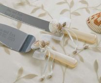 Seashell Knife / Cake Server Set