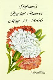 Carnation Bridal Shower Seed Favor