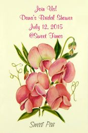 Sweet Pea Bridal Shower Seed Favor