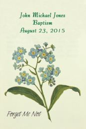 Forget Me Not Baptism Seed Packet Favor