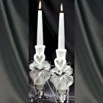 Heart Carved Taper Candles