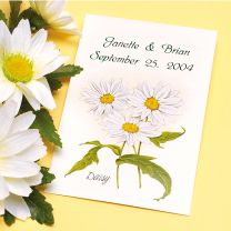 Daisy Flower Seed Packet Favor