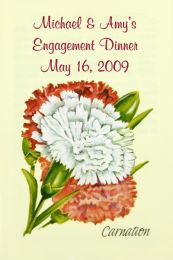 Carnation Engagement Dinner Seed Favor