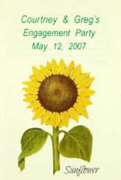 Sunflower Engagement Party Favor