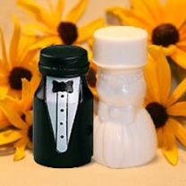 Gown and Tuxedo Wedding Bubbles