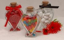 Heart Shaped Favor Bottles
