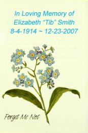 Forget Me Not Memorial Seed Packet