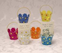 Tin Flower Buckets