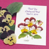 Violet Seed Packet Favor